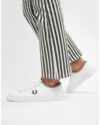 Fred Perry - Kendrick Canvas Sneaker With Tipped Cuff - Lyst