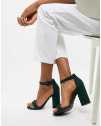 New Look - Barely There Block Heel Sandal - Lyst