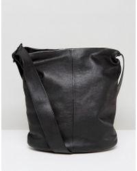 Vagabond - Minimal Leather Shoulder Bag With Cross Body Strap - Lyst