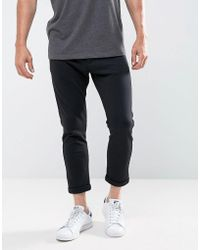 Casual Friday - Slim Fit Cropped Trousers In Jersey - Lyst