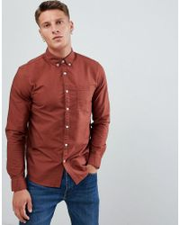 New Look - Oxford Shirt In Rust - Lyst