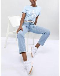 Calvin Klein - Reissue Logo Suede Belt - Lyst