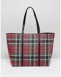 New Look - Tartan Tote Bag - Lyst