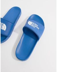 The North Face - Base Camp Sliders Ii In Blue/white - Lyst