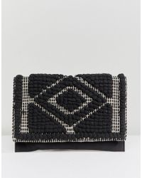 Pieces - Woven Cross Body Bag - Lyst