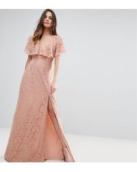 ASOS - Lace Open Back Maxi Dress - Lyst