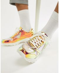 ASOS - Trainers In Iridescent With Transparent Panels And Chunky Sole - Lyst