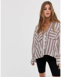 Free People - Mad About You Stripe Shirt - Lyst