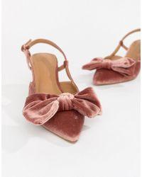 ASOS - Sherry Bow Kitten Heels - Lyst