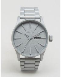 Nixon - Primer Sentry Bracelet Watch In Silver - Lyst