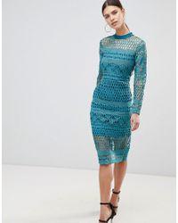 Forever Unique - Lace Bodycon Dress - Lyst