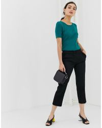 Benetton - Cropped Chino In A Casual Fit - Lyst