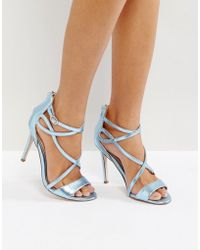 Miss Kg - Fiesta Metallic Strap Heeled Sandals - Lyst