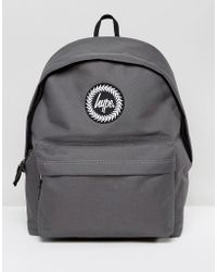 Hype - Exclusive Script Strap Backpack In Gray - Lyst