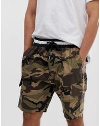 96927c48cb Sixth June - Pantalones cortos cargo con estampado de camuflaje de - Lyst