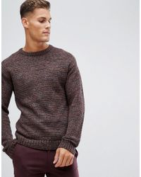 SELECTED - Heavy Mixed Yarn Knitted Jumper - Lyst