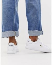 Lacoste - Graduate BL1 - Weiße Ledersneaker - Lyst