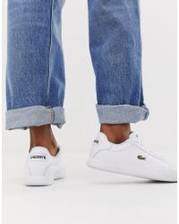 Lacoste - Womens White Straightset Bl1 Spw Trainers - Lyst