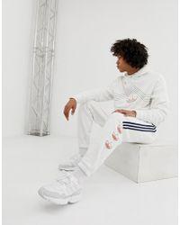 adidas Originals - Trefoil Stripe Joggers Dv3148 White - Lyst