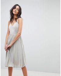 Adelyn Rae - Jolene Pleated Dress - Lyst