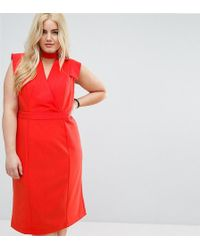 8375eeb4 Club L. Racer Front Maxi Dress In Crepe. $90 $14 (80% off). ASOS. ASOS -  Choker Workwear Dress With Seam Detail - Lyst