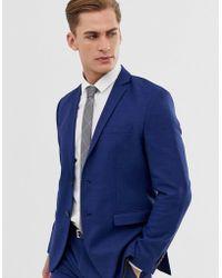 Jack & Jones Premium - Veste de costume stretch coupe slim - Bleu