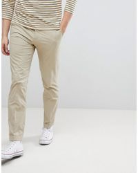 Mango - Man Slim Fit Chinos In Beige - Lyst