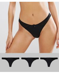 New Look - 3 Pack Microfibre Thong - Lyst