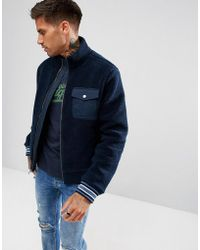 Original Penguin - Borg Bomber Jacket In Navy - Lyst