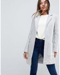 ASOS - Design Slim Coat In Texture - Lyst
