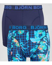 Björn Borg | 2 Pack Trunks Microfibre Geo Floral Print | Lyst