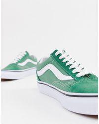 590ef8d5c8c922 Vans - Old Skool Deep Grass Green   True White Shoes - Lyst