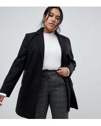 ASOS - Asos Design Curve Boyfriend Coat With Zip Pocket - Lyst