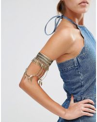 New Look - Gold Leaf Drape Arm Cuff - Lyst