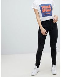 Blend She - Bright Biker Skinny Jeans - Lyst