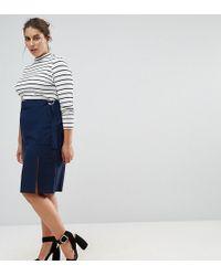 ASOS - Exclusive Clean Pencil Skirt In Crepe - Lyst