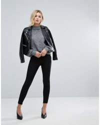 SELECTED - Crop Trousers With Ankle Zip - Lyst