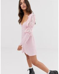 For Love & Lemons - For Love & Lemons Emanuelle Swing Dress In Pink - Lyst