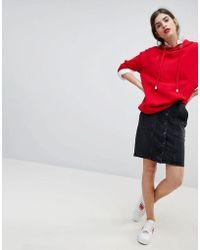 Esprit - Denim Button Through Pencil Skirt - Lyst