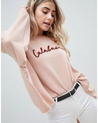 Missguided - Calabasas Slogan Jumper - Lyst