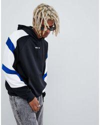 adidas Originals - Eqt Block Hoodie In Black Dh5221 - Lyst