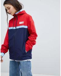 New Balance - Colourblock Windbreaker Jacket In Red - Lyst