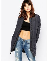 Native Youth - Landscape Quilted Longline Bomber Jacket - Lyst