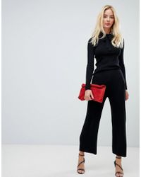 Fashion Union - Knitted Pants In Rib Two-piece - Lyst
