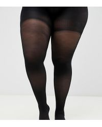 ASOS - Asos Design Curve 60 Denier Tights With Bum Tum And Thigh Support - Lyst