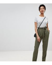 ASOS - Asos Design Tall Woven Peg Trousers With Obi Tie - Lyst