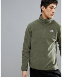 The North Face - 100 Glacier 1/4 Zip Fleece In Green - Lyst