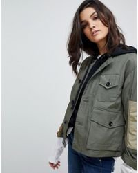 G-Star RAW - Camoflage Combat Jacket - Lyst