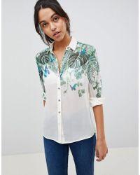 Oasis - Palm Print Shirt - Lyst