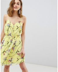 Vero Moda - Bright Floral Mini Dress - Lyst